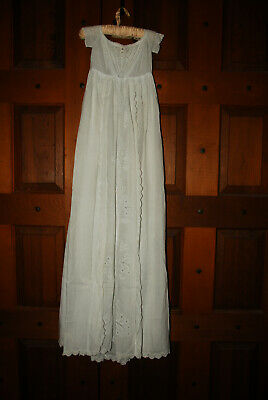 Stunning Original Hand Made Victorian Antique Baby's Christening Gown Dress