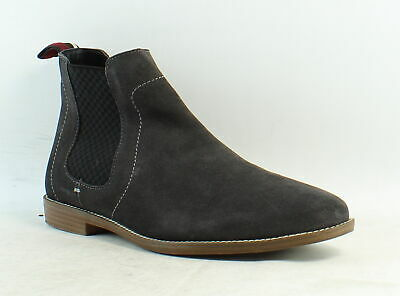 Ben Sherman Mens Gaston Grey Suede Ankle Boots Size 10 (858506)