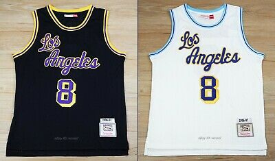 Kobe Bryant #8 Los Angeles Lakers 1996-97 Throwback Jersey - Black / White
