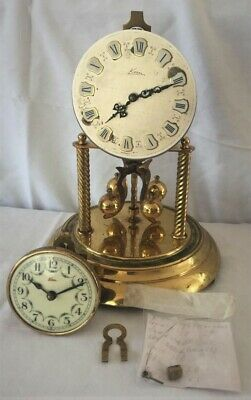 Pair Of Anniversary, Torsion, 400 Day Clocks/Movements By German Maker Kern