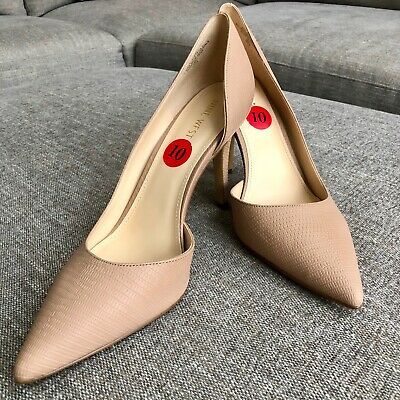 Nine West Womens Beige Closed Heels Pumps Shoes Size 10 NEW