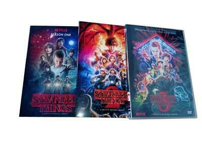 New Stranger Things: The Complete Seasons 1-3 (DVD,8-Disc Box Set)