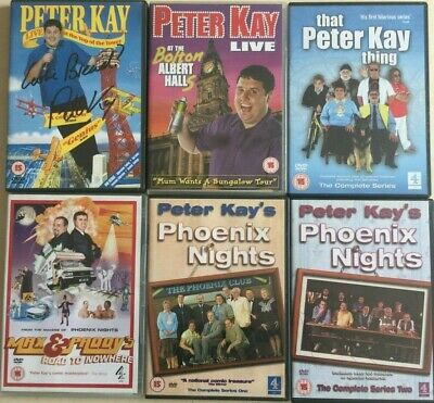 Peter Kay DVD Bundle (6) includes Signed Rare Live at the Top of the Tower