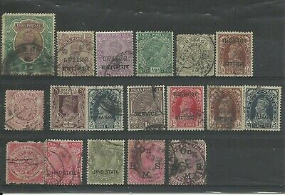 British Commonwealth Stamp Collection, India QV KEVII KGV KGVI, Used