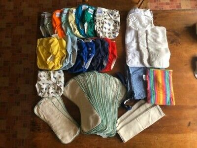 Fitted Pocket Diaper Covers & Inserts  Fuzzibunz, Bumgenius, Hemparoo - Big Lot!