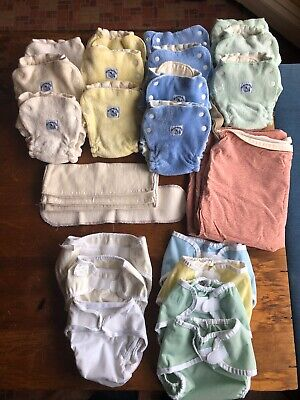 Fitted Diapers, Covers & Hemp Inserts  Swaddlebees, Thirsties, Bummis - Big Lot!