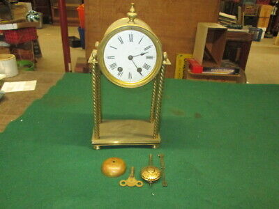 Unusual Early Brass French Mantle Clock To Restore Nice Look Clock Parts Estate