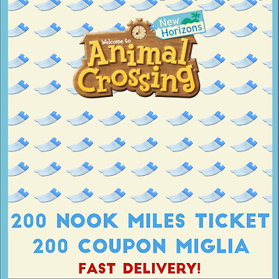 Animal Crossing New Horizons x200 Nook Miles Tickets - Coupon 🚀Fast delivery🚀