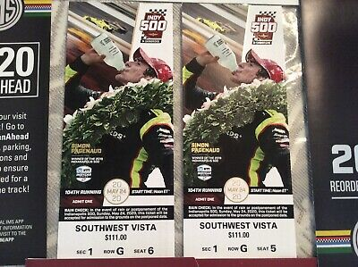 Indy 500 Tickets Southwest Vista Section 1 Awesome Seats