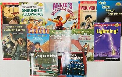 Lot of 12 Scholastic Readers Grades 1-3 1st 2nd 3rd Grade Summer Reading Chapter