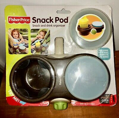 Fisher Price Snack Pod Drink Organizer + Bonus Cup Brand New Sealed -- LQQK