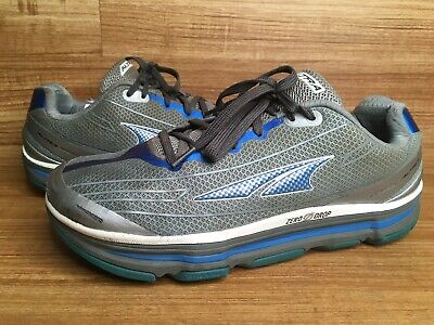Altra Zero Drop Sz 12 US Mens Running Shoes Silver Grey Blue A1345–1-120 🇺🇸