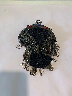 Antique Late 1800's/Early 1900's Original Hand Made Glass Beaded Purse