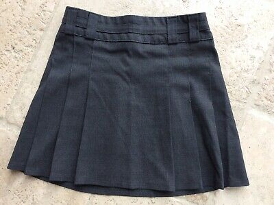 Girls Grey Pleated Marks & Spencers School Skirt Age 6 Years