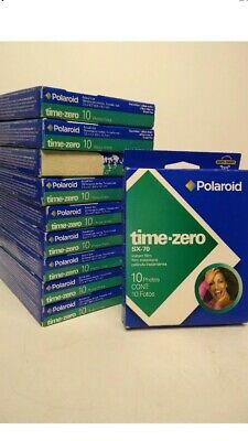 (10) PACKS POLAROID SX-70 Instant Film Time Zero Pack NOS NIB EXP 1/06, 11/05