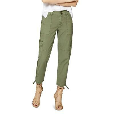 Sanctuary Womens Green Cropped Mid-Rise Cargo Pants Trousers 25 BHFO 6227