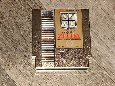 The Legend of Zelda 1 Nintendo Nes Cleaned & Tested Authentic