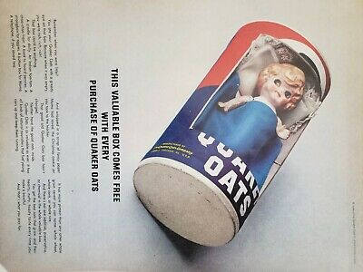 Lot of 3 Vintage 1965 Quaker Oats Ads This Valuable Box