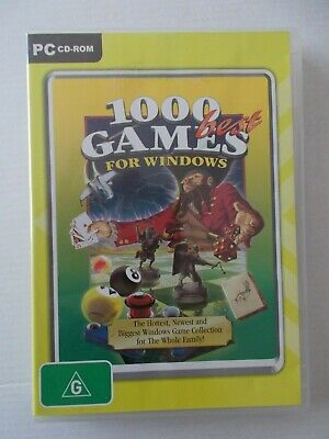 - 1000 Best Games For Windows [Pc Cd-Rom] By Cosmi [Aussie Seller]