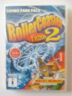 + Rollercoaster Tycoon 2 [Pc Cd-Rom X2] Combo Pack [Aussie Seller]