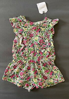 Baby Girl 3-6 Month Next UK Multicolored Floral One Piece Short Ruffle Romper
