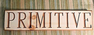 Farmhouse Wood Sign Rustic Primitive Painted Antique Store 23'' Wedding Handmade
