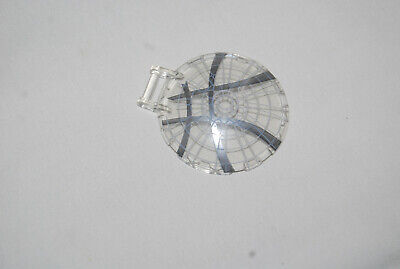 LEGO 6 x 6 Trans Clear Printed Radar Dish with Hinge Handle Cockpit Window NEW
