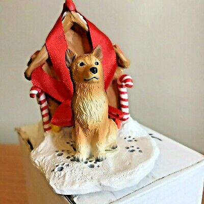 Finnish Spitz Christmas Ornament Gingerbread Dog House Ornament New