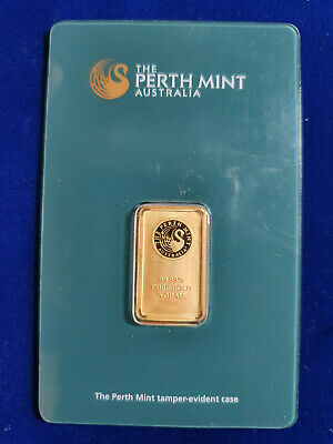 🔥 5 g gram Gold Bar -PERTH MINT - 999.9 Fine in Sealed Assay SHIPS IN 1 DAY