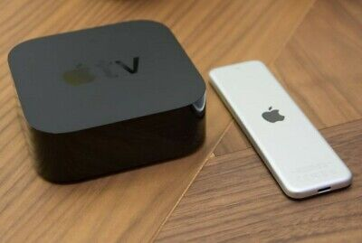 Apple TV 4K HD Media Streamer Black, Remote, Wall Outlet Plug In
