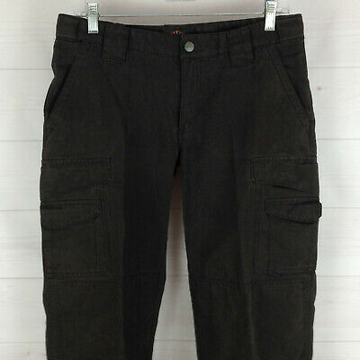 TRU-SPEC womens size 6 charcoal mid rise straight tactical flap cargo pants EUC