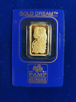 🔥 5 g gram Gold Bar -PAMP SUISSE - 999.9 Fine in Sealed Assay SHIPS IN 1 DAY