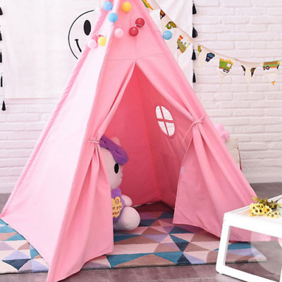 Canvas Children Indian Tent Teepee Kids Wigwam Indoor Outdoor Play House Large