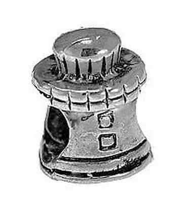 SALE Light  House Charm bead for jewelry Sterling Silver 925