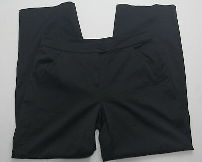 Eileen Fisher Womens Pants Size PM Petite Black Solid Casual Formal Trouser