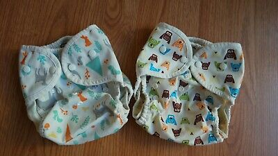 Thirsties Duo Wrap Cloth Diaper covers lot of 2, size 2 (9-36 months) 18-40 lbs
