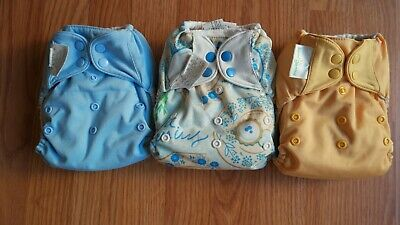 BumGenius pocket cloth diaper lot of 3 pockets with 5 inserts