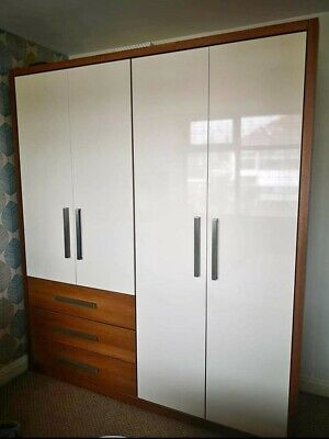 White double wardrobe with drawers