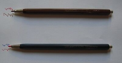 Vintage L&C Hardtmuth Technicolor 5617/2  Blue & Brown - 2 MECHANICAL PENCILS