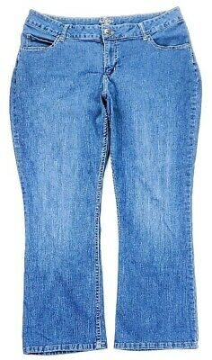 Riders By Lee Womens Mid Rise Boot Cut Jeans Plus Size 18W