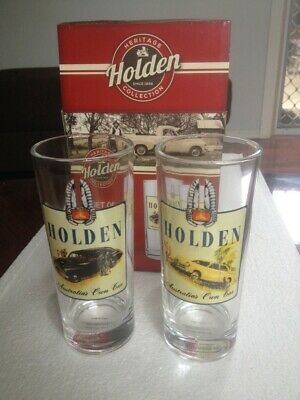 Holden Memorabilia Glass Set Fx Fj