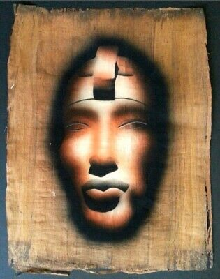 "Authentic Egyptian Papyrus Painting ""Akhenaten"""