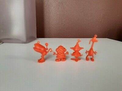 R&L Kellogg's 1970 Inges Cereal Toys x4 Vintage Cereal Toys Collectibles Orange