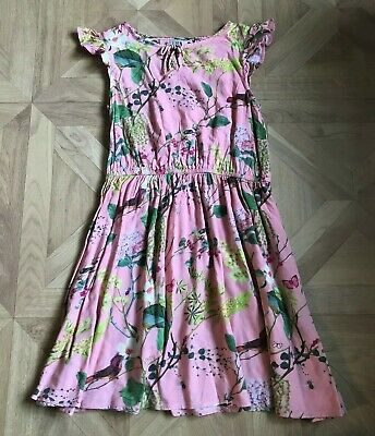 Size: Age 9 Years - Girls Knee Length Pink Floral Patterned Dress - Next - VGC