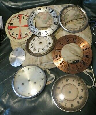 Selection of old clock dials & chapter rings