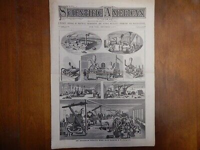 1880 Scientific American Worthington Hydraulic Works Steam Pumps