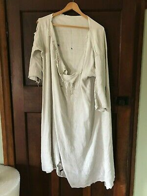 Antique Hemp French Workmans Smock - Victorian c19th century