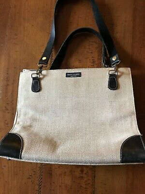 Kate Spade New York  Canvas Purse With Black Handles
