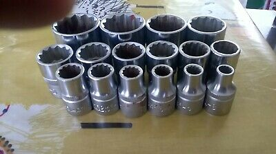 FORCE 1/2 DRIVE SOCKET SET 8mm -32mm