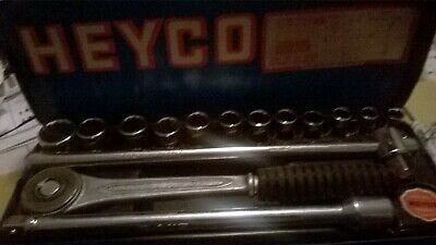 Vintage Heyco Af - Mm Combined Socket Set Made In Germany